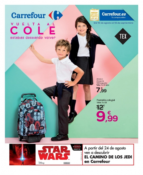 Vuelta al cole carrefour 2017 mochilas y uniformes for Bricomart piscinas desmontables