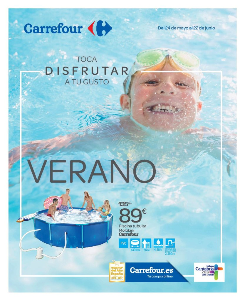 Cat logo piscinas carrefour 2018 gre desmontables intex for Piscinas eroski