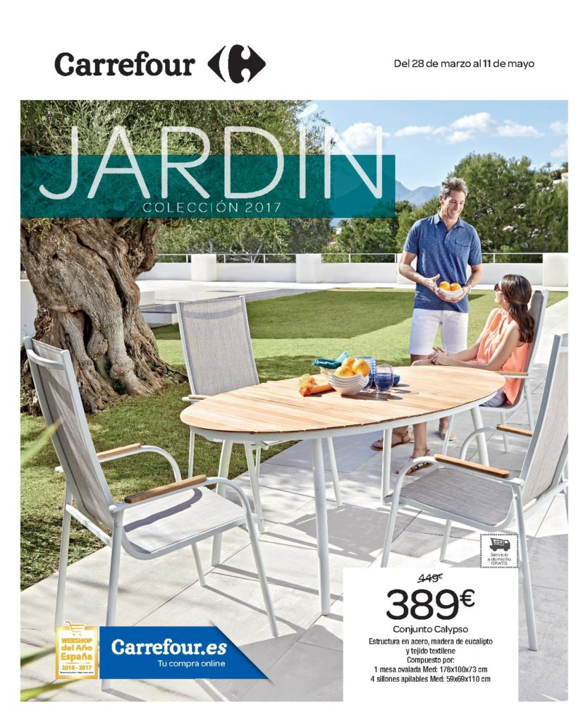 Cat logo muebles jard n carrefour 2018 catalogosdetiendas for Carrefour jardin