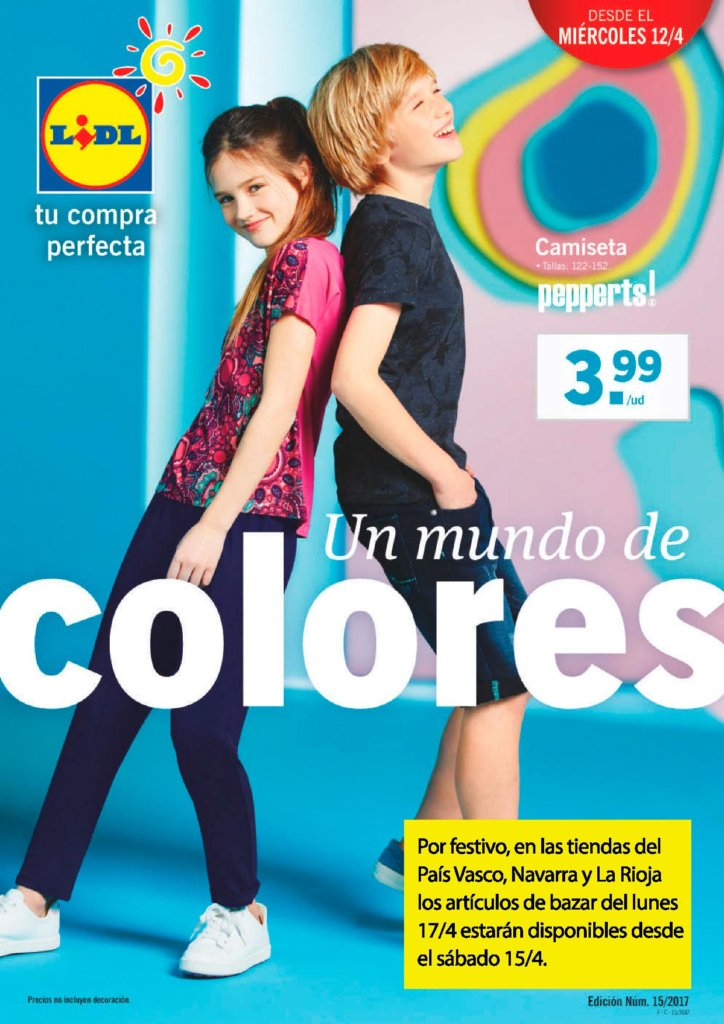 Cat logo lidl mi rcoles 12 abril 2017 ropa ina for Lidl catalogo ofertas