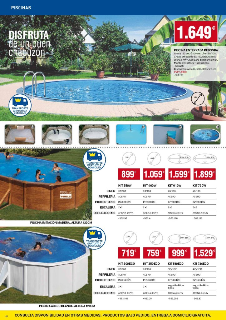 Piscinas bricoking 2018 precios ofertas catalogosdetiendas for Piscinas eroski