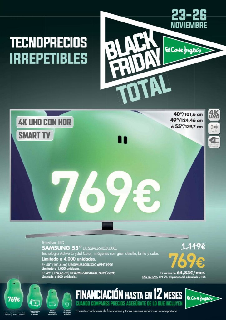 Black friday el corte ingl s ofertas 2018 - Blancolor corte ingles 2017 ...