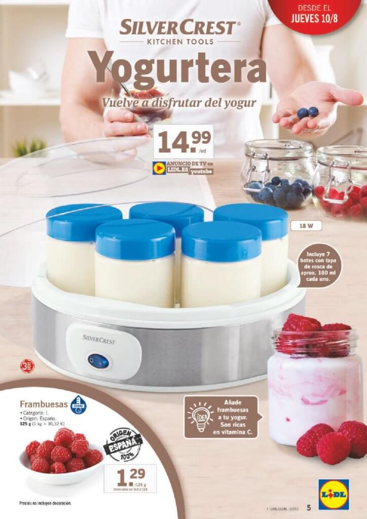 Cat logo lidl jueves 10 agosto 2017 yogurtera for Lidl catalogo ofertas