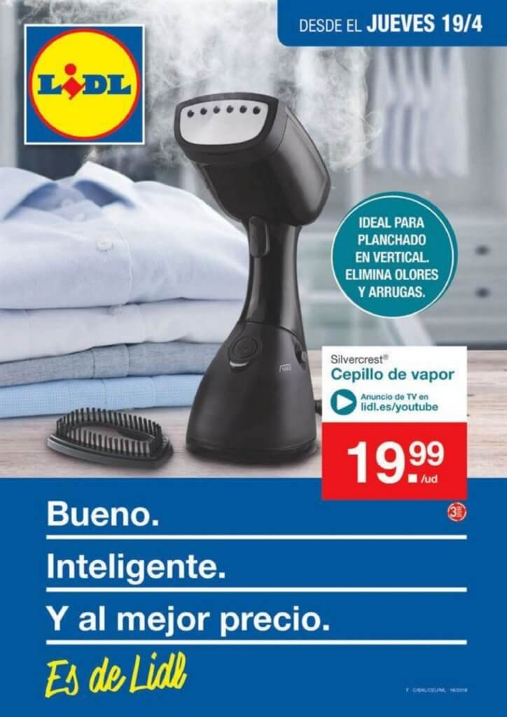 Cat logo lidl jueves 19 abril 2018 plancha a vapor for Lidl catalogo ofertas