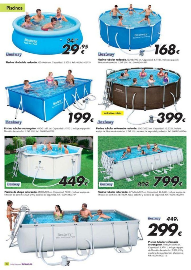 Cat logo piscinas bricor 2018 precios ofertas for Ofertas piscinas desmontables