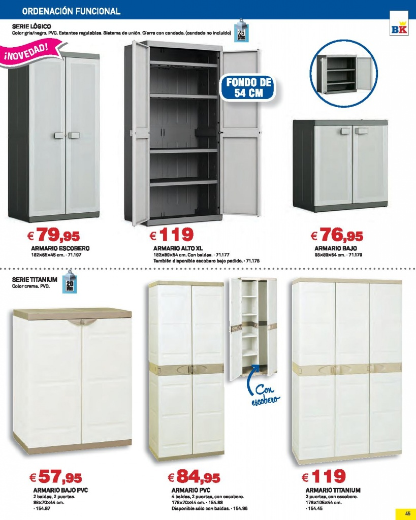 Armarios exterior 2015 en oferta en bricoking for Muebles bricoking